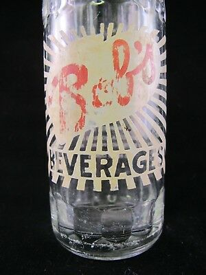 YAVA Glass - RARE Vintage Collectible BOB'S Beverages Bottle by COCA-COLA