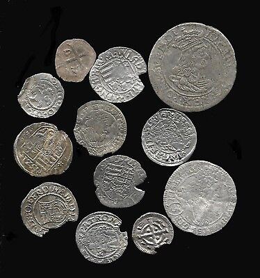 Old Medieval Silver Coins - 1100 To 1500Ad - Knights Templar + Others - Crusades