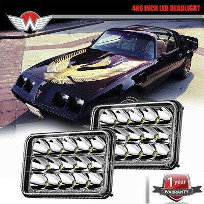 4x6 LED Headlights Project DRL Pontiac Firebird Sealed Replacement H4656 H4652