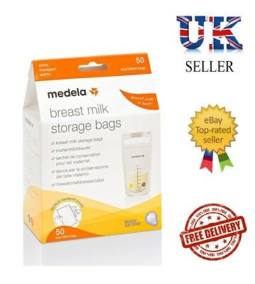 Medela Baby Breast Milk Zipper Storage BPA-Free Bags 50-Count