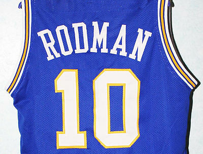 size 40 d6aa0 0b000 DENNIS RODMAN #10 Oklahoma Savages Jersey Blue New Sewn Any Size
