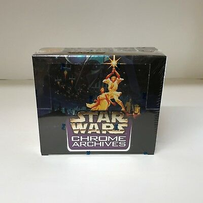 Star Wars Chrome Archives - Sealed Trading Card Hobby Box - Topps 1999