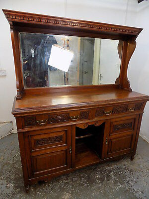 antique,victorian,mahogany,sideboard,chiffonair,drawers,mirror,cupboard,cabinet