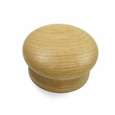 Solid Oak Wood Door / Drawer Knob for Kitchen or Cupboard Furniture 55mm