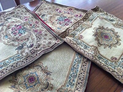 Antique Vintage Floral Tapestry Table Cover Table Runner Set Of 3 Pieces