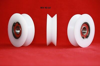 40mm Precision Nylon Pulley Wheel with 90° V groove Guiding Rail Sliding door