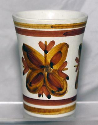 Cinque Ports Pottery Rye Beaker or Spill Vase with a Stylised Floral pattern