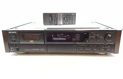 Sony DTC-60ES Dat Recorder - RARE WOOD SIDE PANELS - REMOTE CONTROL - SERVICED