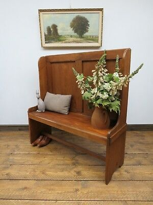 Pine Bench Settle Hall Seat Reclaimed Pine Handmade, Rustic bench Seat
