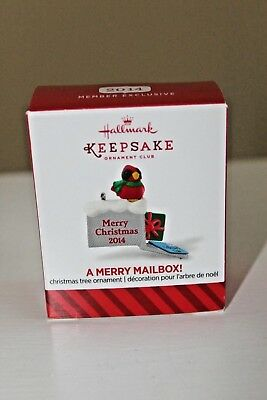 A Merry Mailbox! 2014 Hallmark Keepsake MINI Ornament – NIB – Free S&H