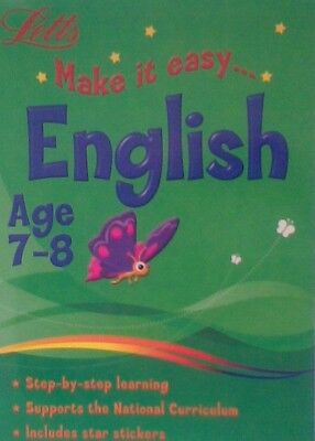 Letts Make It Easy English Age 7-8 Educational  Supports The National Curriculum