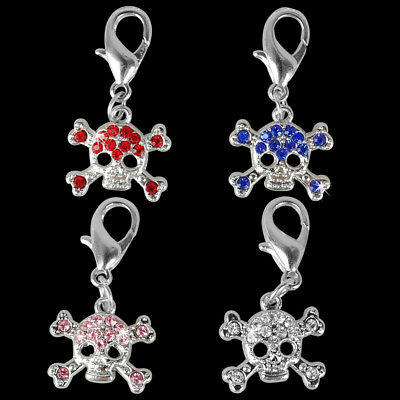 Skull Pet Puppy Enamel Accessories Collar Charm Pendant Necklace Disc Dog ID Tag