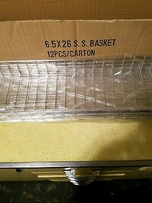 "5 Stainless Steel Wire Mesh Bagel/Donut/Muffin Basket-6.5"" x 26""-new never used"