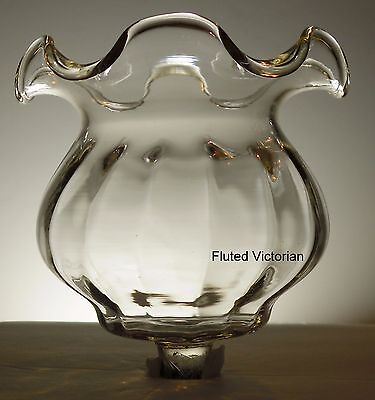 Home Interior Clear Fluted Victorian Ruffle Votive Cup w/ rubber grommet