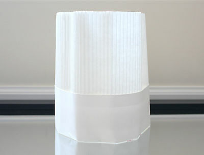 Disposable Paper Chef Hats 5 Pack Open Top Free Shipping