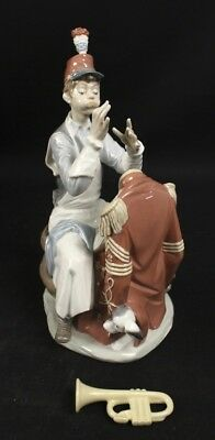 LLADRO #1408 Practice Makes Perfect Man Boy with Trumpet Norman Rockwell Series