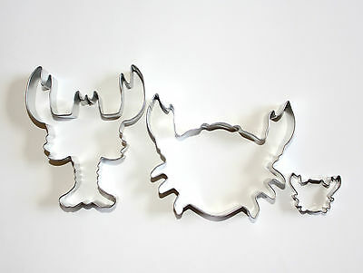 Set Of 3 Seafood Cookie Cutters Free Shipping