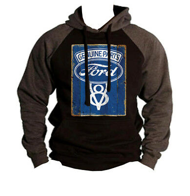 Ford Genuine Parts Sweatshirt American Classic Muscle Cars V8 Motor Sweater