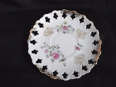 Oakwood China of Japan SAUCER ONLY Roses Pierced
