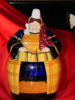 VINTAGE HENRIOT QUIMPER FRANCE 663.B Cookie Jar Rare