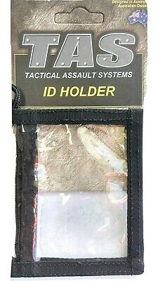 Tas Id Holder Black Dual Sleeve Heavy Duty Military / Security