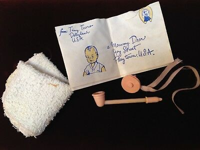 Original American Character Tiny Tears Booklet Pacifier Pipe and Terry Cloth TLC