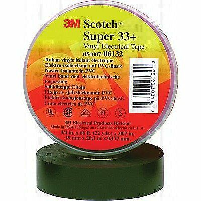 "3M 3MT054007-06132 33+ Vinyl Electrical Tape, 66'L x 3/4""W, Black"