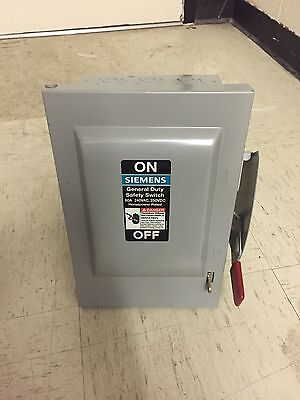Siemens 3 Phase Disconnect 60 Amp