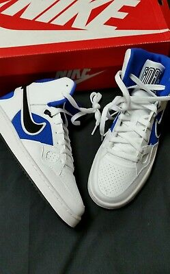 0a2822eeb6ca Mens Nike Son of Force Mid Basketball Shoes Size 7.5 White Blue Black New