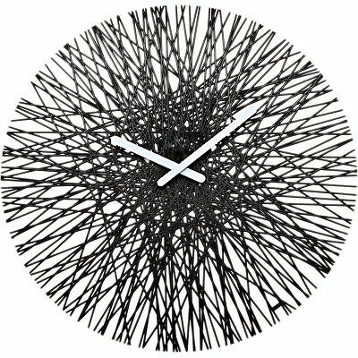koziol SILK Wall Clock, solid black