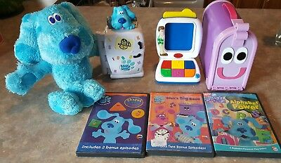 BLUES CLUES Room Toy DVD LOT Computer, Refrigerator, Alphabet ...