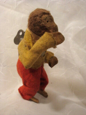 1940s Wind Up Mohair Monkey Hair Wagging Twirl Tail Japan Needs TLC but Works