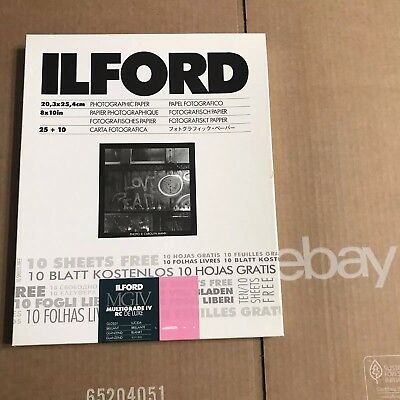 Ilford MGIV Multigrade IV RC Deluxe 8x10 (open envelope) 28 sheets Glossy