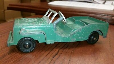 Vintage Metal Masters Company Willys Jeep USA Army Green Die Cast Toy
