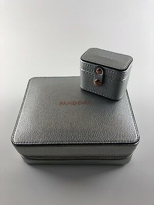 Authentic Pandora Travel Jewelry Box-Storage With Rings Box Jewelry Not Included