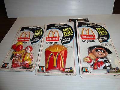 RARE-- McDONALDS 1999 MAGNETS  3-CLASSIC MAGNETS   NEW