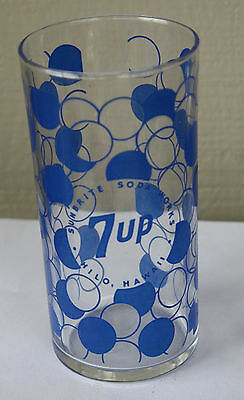 Rare Sunbrite Beverage 7Up Acl Glass Hawaii Hilo Bottle