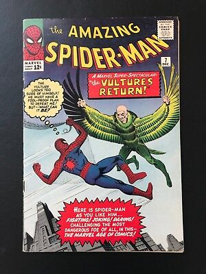 The Amazing Spider-Man #7 - 2nd App. of Vulture Marvel Spidey ASM