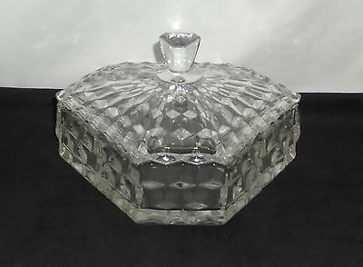 "Fostoria AMERICAN CRYSTAL *6"" CANDY BOX w/COVER*"
