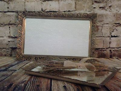 ~2 Lovely Ornate Vintage Mirrored Vanity Trays Or Wall Mirrors! Cottage Chic
