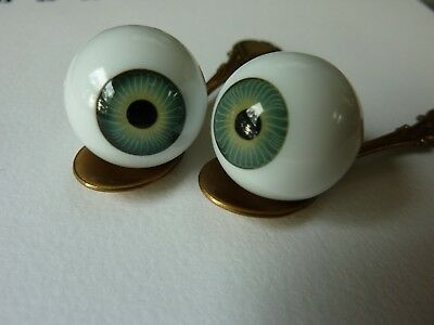 Playhouse 20 mm GREEN acrylic round doll eyes Reborn  for AWESOME  babies