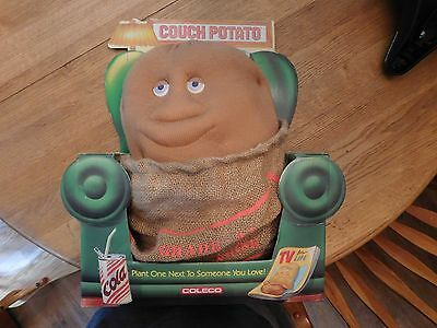 """Coleco Couch Potato 14"""" With Box Plush Toy rare 80s novelty TV PARTY Gag"""