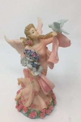 "DREAMSICLES  ""Angel Of Peace""  #11093 Collectible Angel With Flowers & Dove"