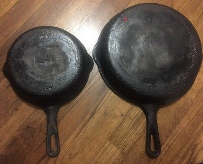 Griswald Cast Iron Lot Size No. 800 And No. 5 Vintage