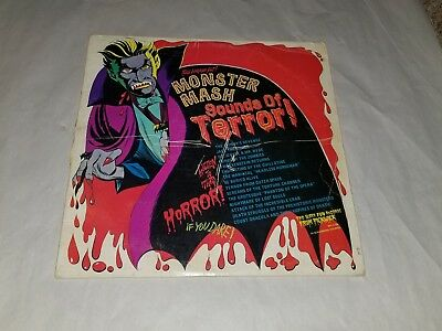 The Horror Hit Monster Mash Sounds of Terror LP Record Halloween Scratches