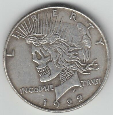1 HOBO COIN with 2 Heads 1922 1921 Peace Silver Dollar *TRICK MAGIC NOVELTY*