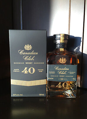 Canadian Club 40 Year Bottle, Bag and Box. Long sold out