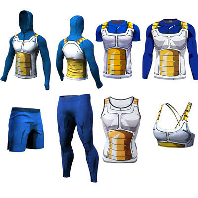 6eddd69a6fe59 Women Dragon Ball Z Goku Vegeta Singlet Pants T-Shirt Tank Top Sleeveless  Hoodie