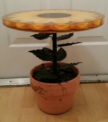 Hollywood regency flower plant lucite table eames mid century modern Jere