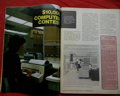 1973 win a $10K vintage computer competition, Pre PC. Electronics today magazine